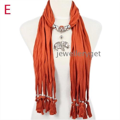 scarves metal charm elephant pendant jewelry wholesale