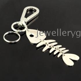 Wholesale jewelry ,free shipping keychains ,alloy Fishbone  keychain ,PT-214