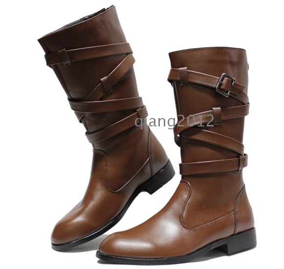 free shipping 2012 new fashion korean mens high boots