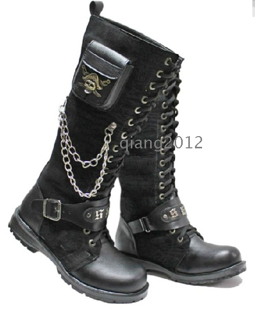 2012 fashion chains of small pocket men s boots