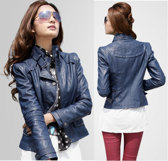 Ladies Short Leather Jacket