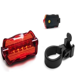 NEW 5 LED Cycling Bicycle Bike red rear butterfly lights single lamp