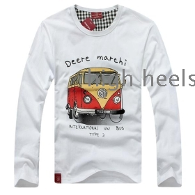 2012 new male and female attire sweethearts outfit round brought long sleeve leisure han edition T-shirt class custom perfect service
