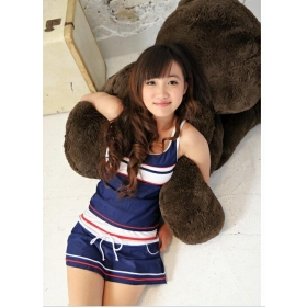 2012 swimsuit vest skirt type fission three-piece suit lovely conservative female hot spring bathing suit