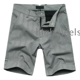 frrshipping In 2012, British style exquisite recommend men cotton shorts leisure pants in the grid