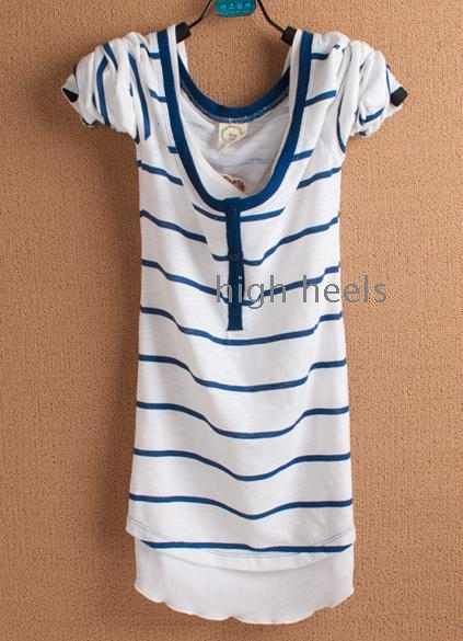 La mode nouvelle ronde a manches longues longue édition de han T -shirt de loisirs exquis cultivent sa moralité deux bande vêtement supérieur sans doublure fausse rendu de l'un
