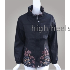 Leisure jacket zipper unlined upper garment is women's coat dust coat elderly women's spring and autumn outfit big yards with women's mother