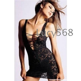 Free shipping  Sexy underwear,sexy lingerie,Women's transparent KaiJin ma3 jia3 sexy temptation bud silk pyjamas sets ~ prothorax buckle section Clothes + T pants