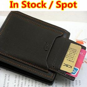Special promotion Free Shipping 1pcs Free shipping men's wallet & fine bifold brown pu leather top purse zipper wallet.wholesale