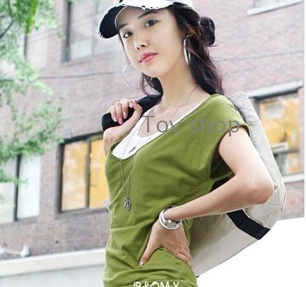 Το καλοκαίρι των νέων γυναικών καθαρό χρώμα joker μια λέξη έφερε / V με κοντό μανίκι T -shirt καλλιεργούν ηθική κάποιου δείχνουν λεπτή καθιστούν T