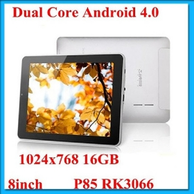 8 inch Teclast P85 Android 4.0 Tablet PC Dual Core RK3066 1.6GHz Quad Core Mali400 GPU 1GB 16GB HDMI