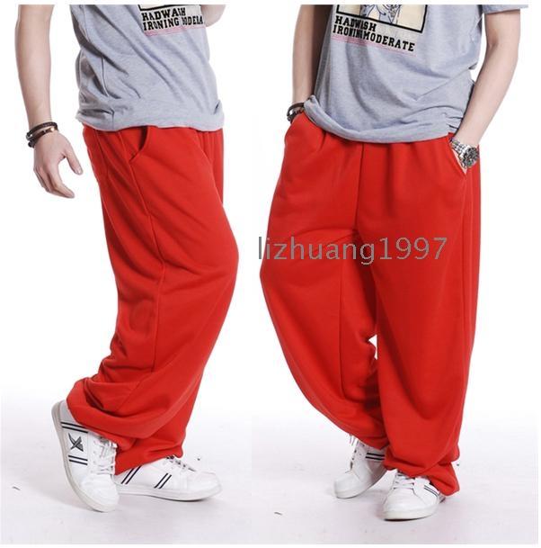 סוג רופף פנאי איש בסגנוןשרחבי מכנסיים מכנסיים מכנסיים רחוב ריקוד ההיפ הופ של המכנסיים ריקודים בגדי גברים