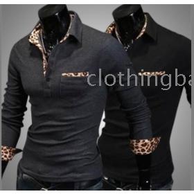 Men's slim long sleeve  shirt  1401B08