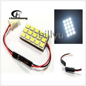 Free shipping 12V 15 SMD 5050 3Chips Car Interior Room Dome Door Light /LED panel light White