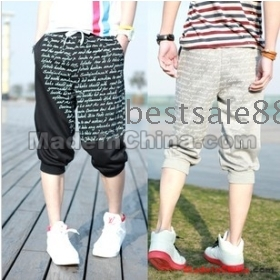 Free Shipping Wholesale Hot Sale Specials 2012 new style fashion brand handsome letters printed Men's sports pants