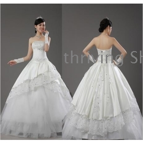 free shipping  The latest fashion the bride's wedding dress to marry the