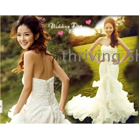 free shipping  The new fish tail royal wedding wedding dress