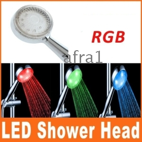 Dropshiping High quality Color Changing LED Faucet Glass Waterfall Bathroom Sink Faucet Centerset,H8536,free shipping