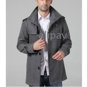 Free shipping mens long trench coat wool overcoat men wool coat winter high quality office jacket