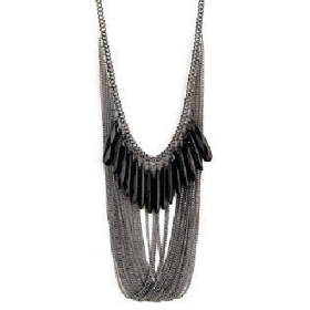 Free Shipping! Min.order (Type X092) Black & White Fashion Layer Necklace /Necklace For Woman, Noble Tassels Necklace, Hot Sale