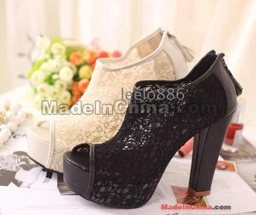 Free Shipping Wholesale New arrival fashion sexy noble elegant  platform super peep toe hollow wedding sandals EU35-39