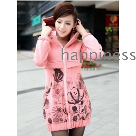 free shipping Han female coat cultivate one's morality thick fleeces health clothes coat
