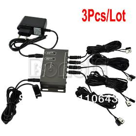 Wholesale 3Pcs/Lot IR Repeater System Kit Hidden Infrared Remote Extender 8 Emitters 1 Receiver 0150