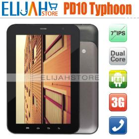 DHL Shipping Freelander PD10 Typhoon Phone Calling tablet pc 7 inch ips android 4.0 1G/4G 1.2Ghz Bluetooth GPS Camera In Stock