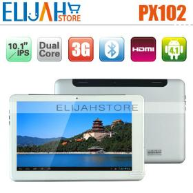 Aocos PX102 RK3066 Dual Core 3G WCDMA Tablet PC 10.1'' IPS Capacitive Android 4.0 1GB/16GB 1.6GHz Bluetooth HDMI