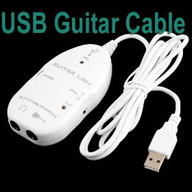 USB Guitar Cable Link To PC/,I11W,5pcs/lot,Free Shipping