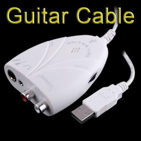 Mini USB Interface Audio Guitar Link Cable to PC I23 Free shipping Wholesale