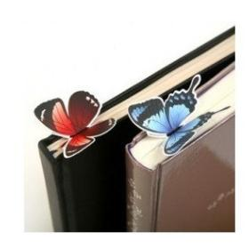 Freeshipping!Wholesale,New cartoon butterfly Bookmarks/cute Book marks/Office & School Paper Clip/Gifts