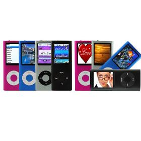 8GB FM VIDEO 4TH GEN MP3 MP4 PLAYER+Earphone+USB Cable+Retail box free shipping