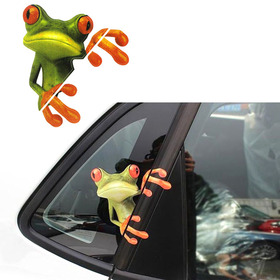 Moodeosa 3D Peep Frog Funny Car Stickers Truck Window Decal Graphics Sticker Freeshipping