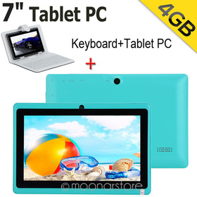 40New 7 Colours Q88 7inch Android 4.1.1 ARM Cortex-A8 WiFi Dual Cameras 512M ROM 4GB Tablet PC + Keyboard Cover Case WDA0806