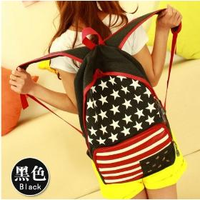 2014 New fashion Backpack national flag Style Tangerine Design rucksack bag Drop Ship