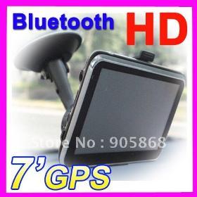 """A tela mais barato 7 """" HD 800 * 480 Navegação GPS Bluetooth / AV IN / FM mapa 3D 4GB CE6.0 novos mapas MTK frete Grátis Programa"""