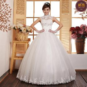 Wedding dress 2014 new Korean Halter sweet noble ladies slim generous lovely comfortable brand bride wedding Free shipping