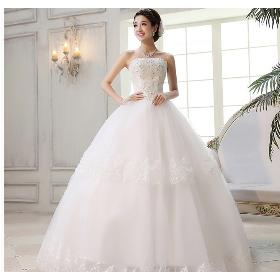 2014 Lace tube top wedding high-grade Korean wedding dress fashion moving aesthetic self-cultivation Free shipping