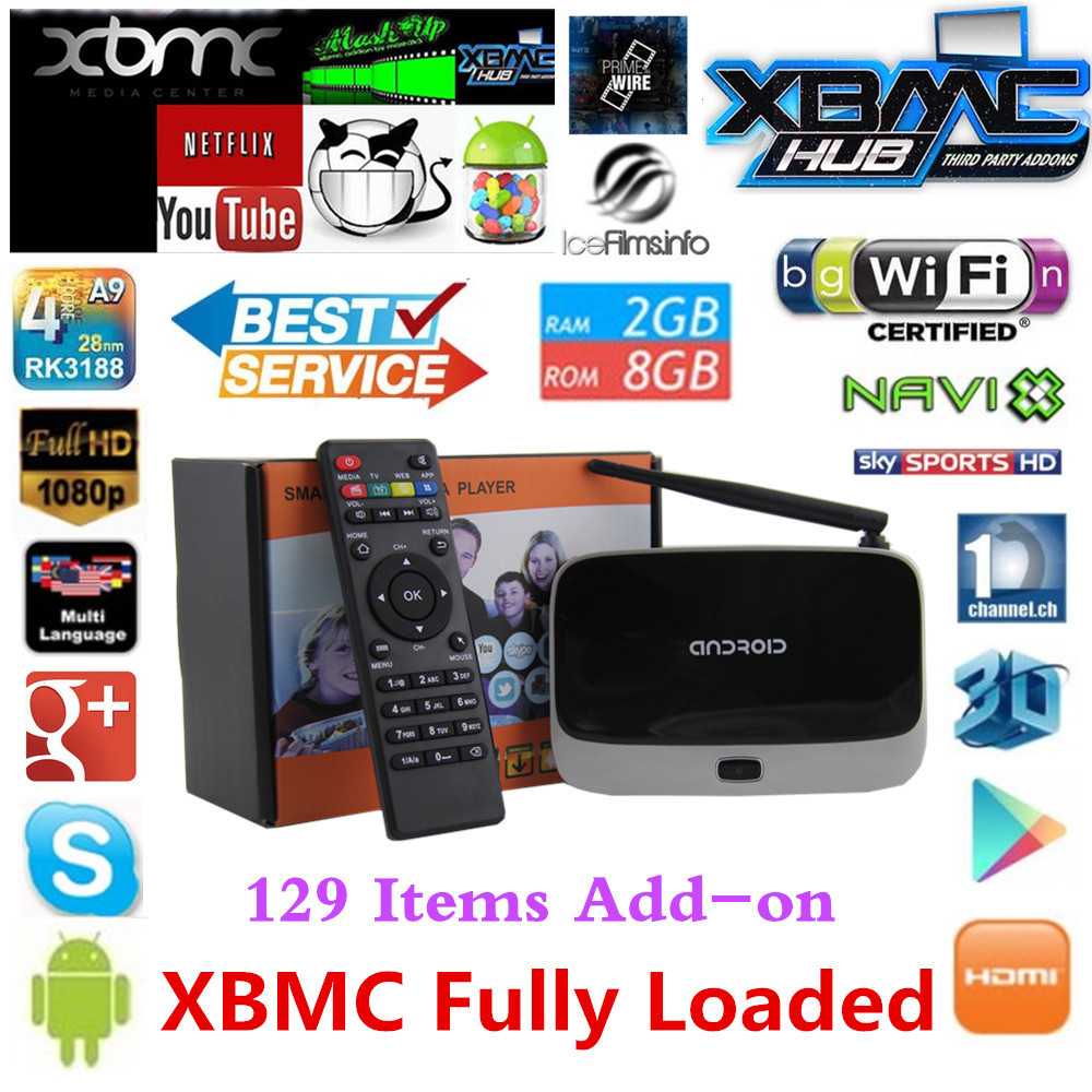XBMC fully loaded 888 Q7 cs918 Android TV Box - Trgovina na