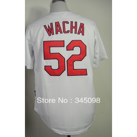 Free Shipping,Cheap Sale,#52 Michael Wacha White Men's Baseball jersey,Embroidery and Sewing Logos,Discount Activewear