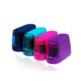 Child gift electric pencil sharpener machine free shipping(Pink color)