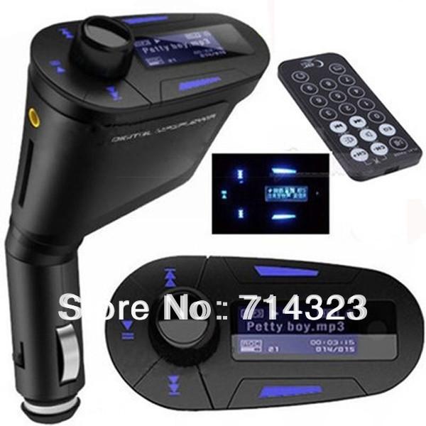 blue remote car kit mp3 player wireless fm wholesale. Black Bedroom Furniture Sets. Home Design Ideas