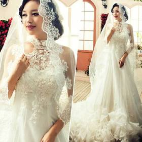 1PCS Free Shipping Spring New Arrival 3M Bride Veil About 3M Wedding Veils Long Elegant Aesthetic Dress Accessories