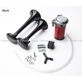 Free shipping new universal Loud Dual Trumpet Air Horn 12 Volt 135 modification for Car Truck RV Train Boat Motorcycle