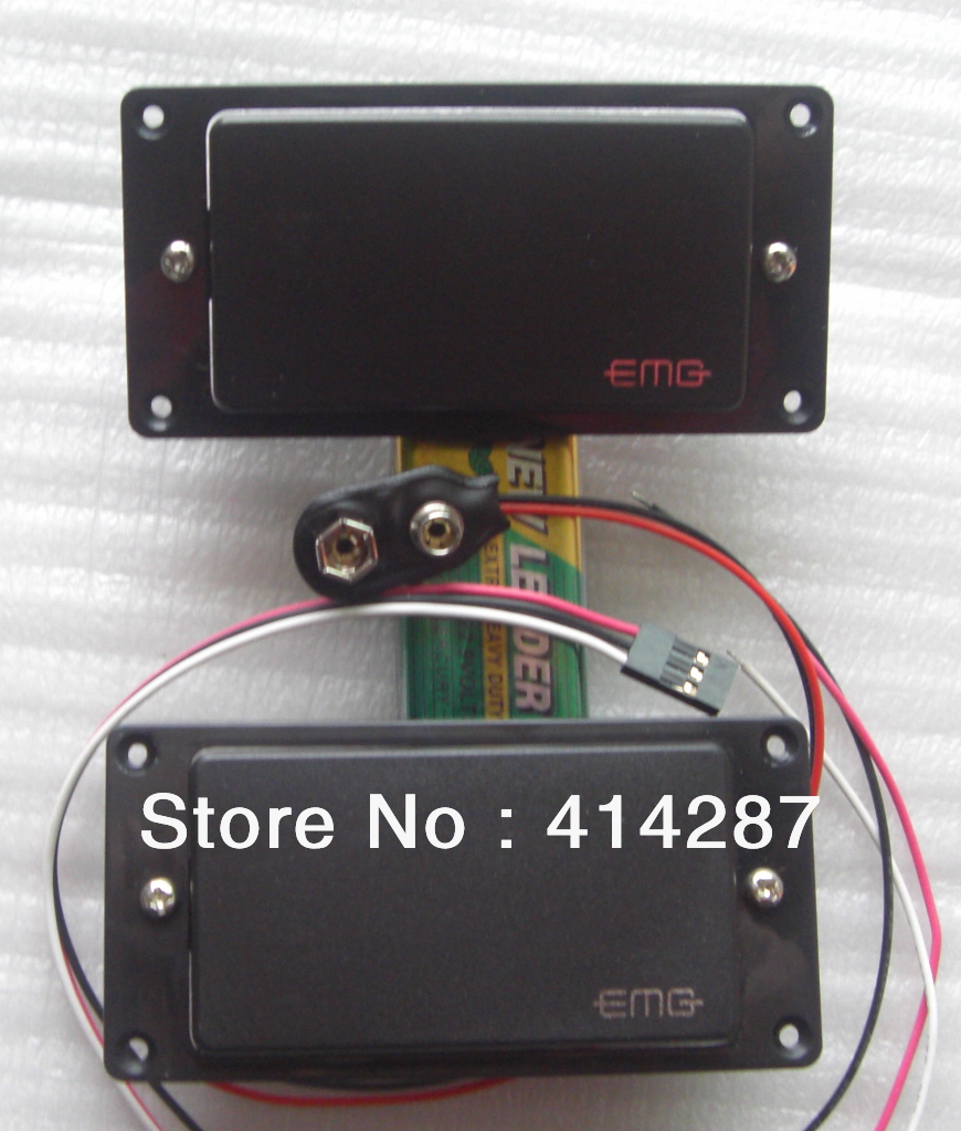 2pc pair 81 85 active pickups closed type electric \u2013 wholesale 2pcImage Emg 81 85 9 V Battery Active Pickups Closed Type Electric Guitar #21
