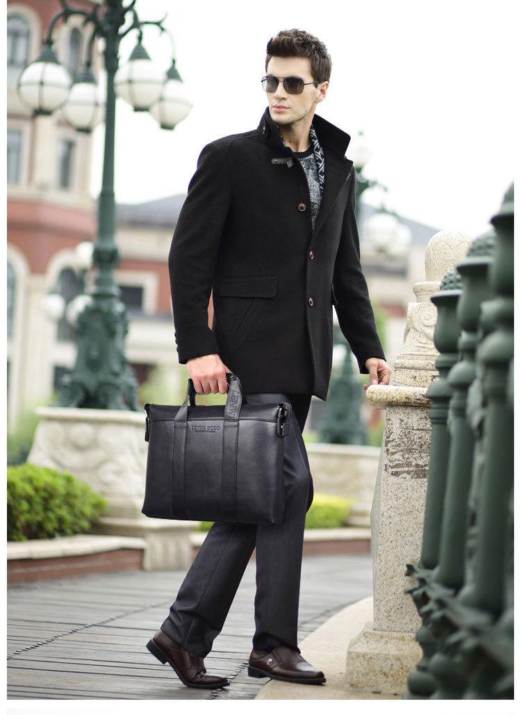Lenwe Bolo Men Business Briefcase Leather Handbag Wholesale Lenwe