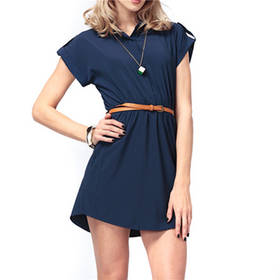 Sexy Women Dress 2015 Lady New Summer Sleeveless V Neck Casual Loose Chiffon Dresseses Vestios with Belt Plus Size S-XXL
