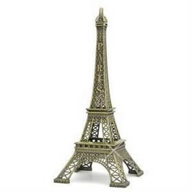 2014 New Household Metal Crafts Bronze Paris Eiffel Tower Figurine Statue Vintage Alloy Model Decor 13cm