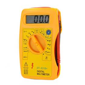 DT-831B+ Professional Digital Multimeter DMM Voltmeter Ammeter Multitester Ohmmeter hFE Tester Megohmmeter w/Battery Tester
